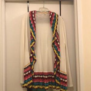 Rainbow Crochet Cardigan